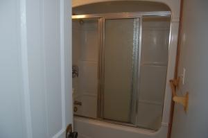 Bathroom before; shower