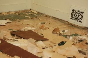 Back bedroom flooring demo