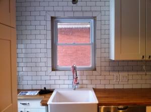 Completed kitchen tile.