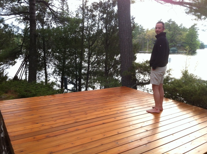 The new west platform at the cottage.  Good work hubby!