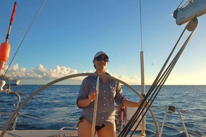 Sailing off the coast of Antigua.