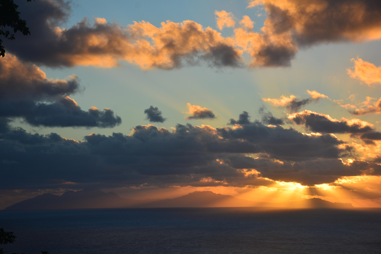 Sunset over Montserrat.